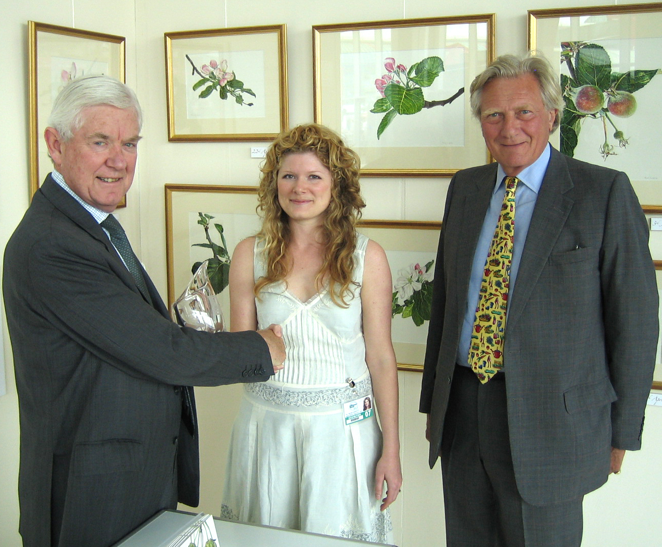 Anna being awarded the RHS Gold Medal