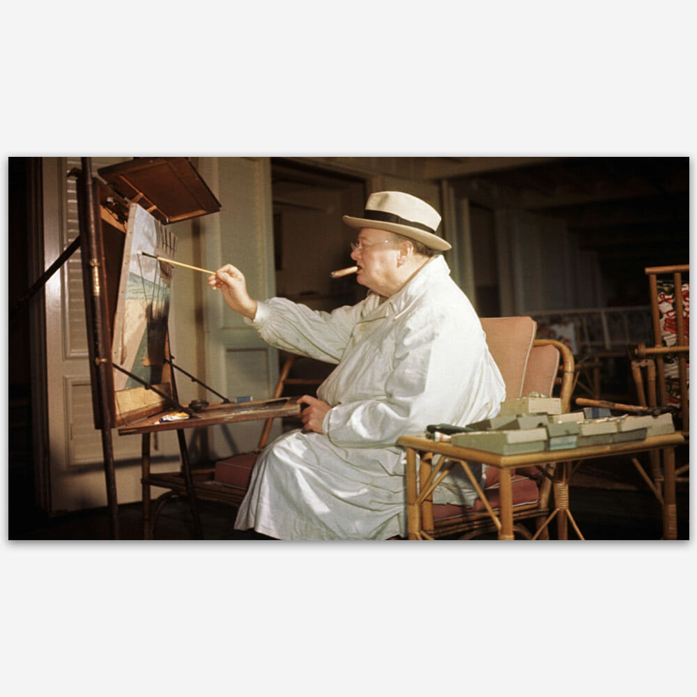 Winston Churchill loved to paint