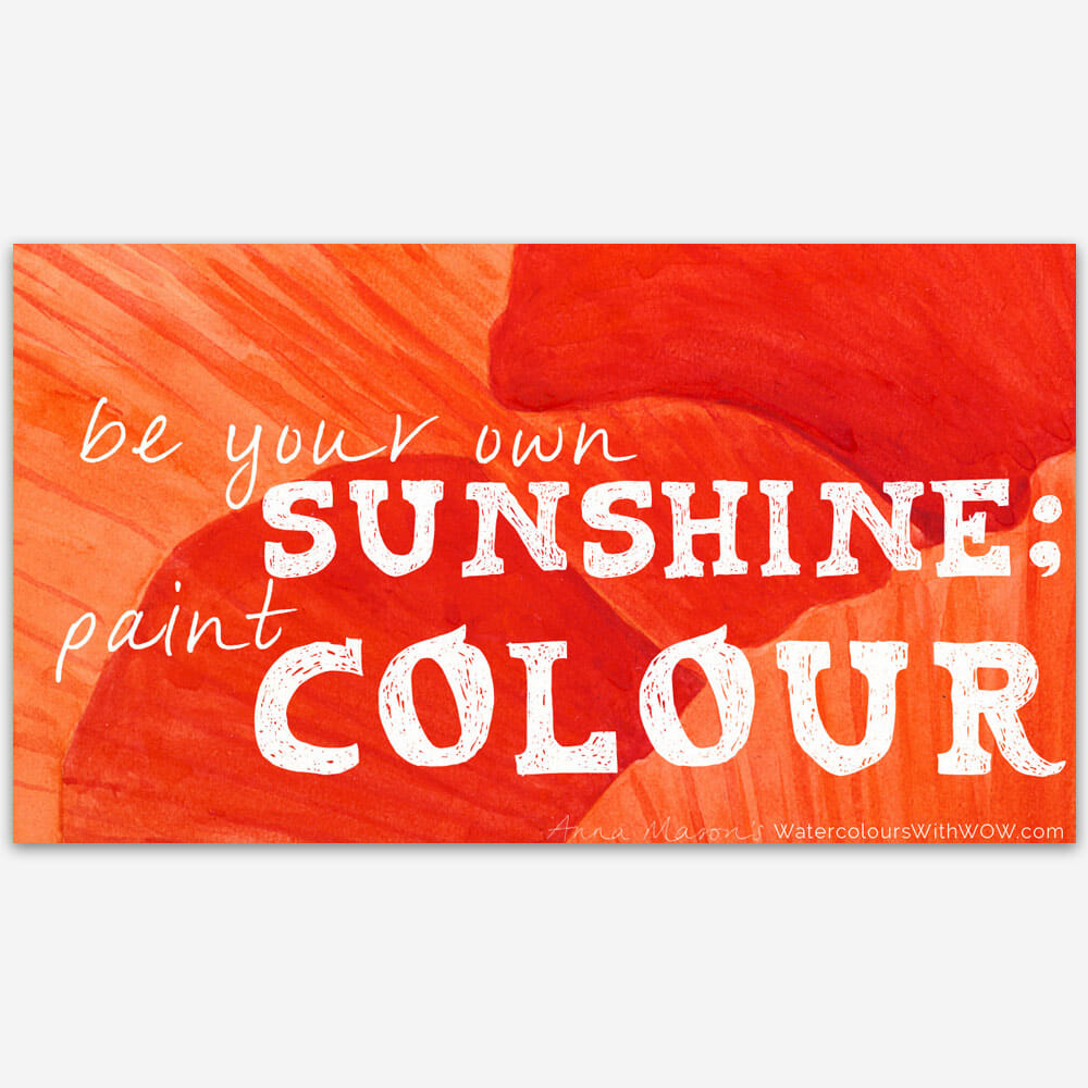 Be your own sunshine - paint colour