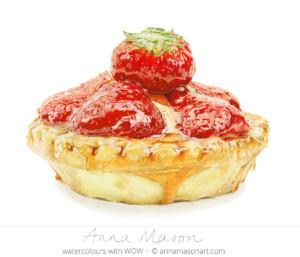 Anna Mason shiny Strawberry Tart