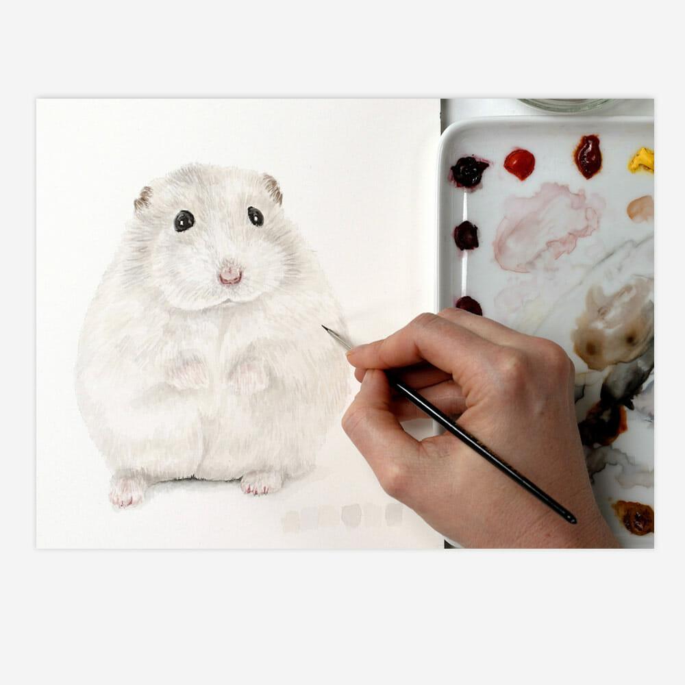 Paint fur